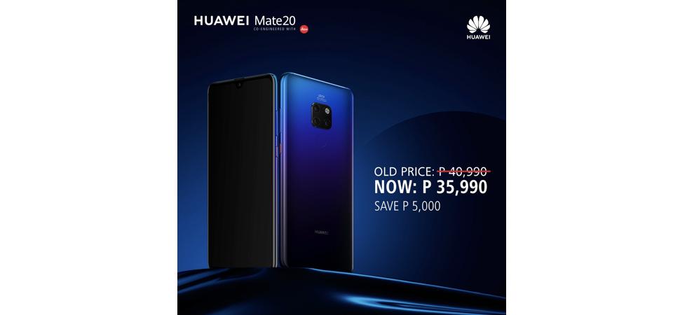 Huawei Mate 20 Price Drop
