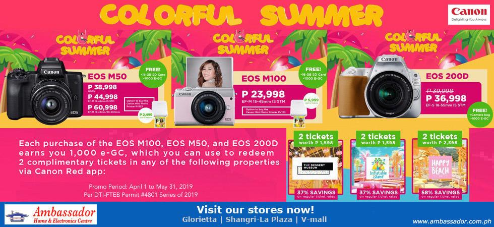 Canon Colorful Summer Promo