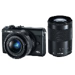 Canon EOS M100 Mirrorless Camera Kit (EF-M15-45 IS STM & EF-M55-200 IS STM)